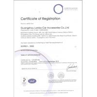 Guangzhou Lanbo Car Accessories Co., Ltd Certifications