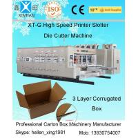 Wholesale 15 - 30kw Carton Box Printing Slotting Machine / Flexo Printer Slotter Die Cutting Machine from china suppliers