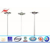 Wholesale 35M HDG 400W HPS High Mast Pole Tower Octagonal Shape With Metal Halide Lighting from china suppliers