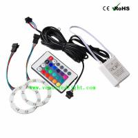 Wholesale 60MM LED COB Auto Angle Eyes Rings Halo Flashing Remote kit Multi-color RGB 5050 18 led from china suppliers