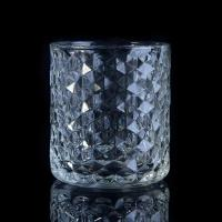 Wholesale Popular Home use candle glass containers Custom Clear Diamond Shape from china suppliers