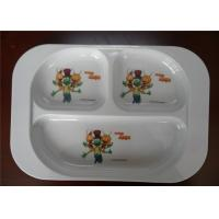 Buy cheap Professional Bulk Dinner Melamine Plastic Plates Three Holes White Color For Hotel from wholesalers