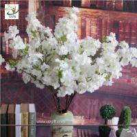 Wholesale UVG CHR141 Wedding bouquets white fake cherry blossom decorative branches for table centerpieces from china suppliers