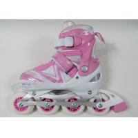 Wholesale Soft Boot Support System Pink Inline Skating Shoes for Girls with Comfort Fit Padded from china suppliers