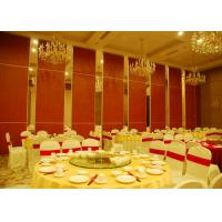 Wholesale Red Fabric Plywood Single / Double Door Folding Partition Walls  BUNGE Standards from china suppliers