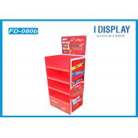 Quality Chocolate Floor Cardboard Poster Display Stands With Easy Assembly for sale