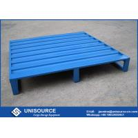 Wholesale Blue Powder Coating Iron Warehouse Steel Pallet With 4 Side Forklift Entrance from china suppliers