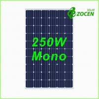 Quality 250 Watt Monocrystalline Solar Panel for Camping , Deep Blue MCS / CHUBB Certified for sale