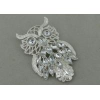 Wholesale UHU Souvenir Badges By Pewter Die Casting , 3D Design with Rhinestone And Silver Plating from china suppliers