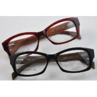 Wholesale Acetate Frame Wood Temple, Spring Hinge Optical Eyewear Eyeglasses Frames (6161) from china suppliers