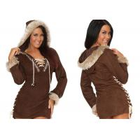 Wholesale Faux Suede Party Adult Costumes , Sexy Women Daring Eskimo Adult Halloween Costumes from china suppliers