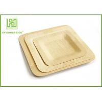 Wholesale Large Square Disposable Bamboo Plates And Utensils Environmental Protection from china suppliers