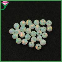 Wholesale wholesale price 3mm round white fire synthetic opal beads from china suppliers