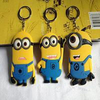 Wholesale high quality cheap price custom logo soft pvc rubber  personalized minion dave keychain with cool &cute design from china suppliers