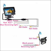 Wholesale Caravan parking assist tool Wireless CMOS Truck Reverse Camera with 7 inch LCD monitor from china suppliers
