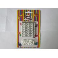 Wholesale Column Shape Magic Relighting Candles , White Striped Birthday Candles from china suppliers