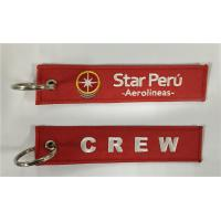 Wholesale Crew Star Peru Aerolineas Fabric Key Chain Aviation Tags from china suppliers