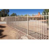 Wholesale Flat top galvanized steel tubular metal fence panel from china suppliers