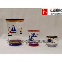 Buy cheap Hand painted candle holder*hurricane lamp*navy design*anchor*sailing boat from wholesalers