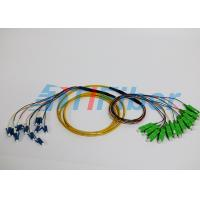 Wholesale SC / UPC to LC / UPC fiber optic cable patch cord Multi mode 12 Core LSZH Jacket from china suppliers