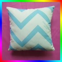 "Wholesale 14"" blue chevron Custom Printed Pillows square For decorative from china suppliers"
