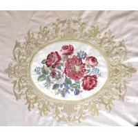 Wholesale 100% Polyester Embroidered Curtain Fabric Velvet Basic Flower Design from china suppliers