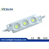 Quality 3-LED SMD5050 RGB LED Module For Outdoor Signage 0.72W  With 160 Degree Lens for sale