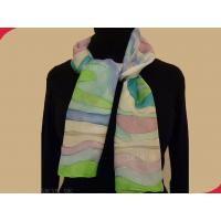 Wholesale Fashionable Printed Soft and Comfortable Small Ladies Neck Scarves Polyester Silk from china suppliers