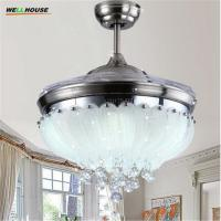 Wholesale European Simple Design 42inch Ceiling Fan Light Blades Hidden Fan 2026 from china suppliers