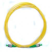Wholesale G657A1/A2 Yellow Fiber Optic Patch Cord Single mode cables ABS Material from china suppliers
