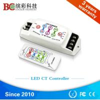 BC-310RF  DC 5V 12V 24V DIY Color Temperature led controller; 8A 2 channels RF remote touch dimmer