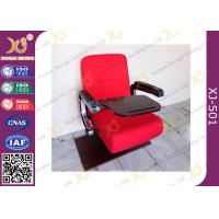 Wholesale Upholstered Red Acrylic Fabric Aluminum PU Armrest Conference Hall Chairs Single Leg from china suppliers