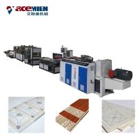 China Double Color Printing PVC Ceiling Panel Making Machine With Vacuum Calibration Table on sale