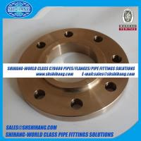 Wholesale copper nickel UNS C70600 CUNI 9010 flange Solid Slip On Flange-ASME B16.5 from china suppliers