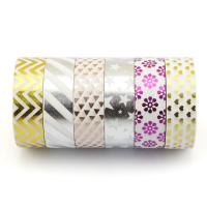 Quality christmas washy tape multifunctional bling foil washi tape,custom foil washi tape for sale