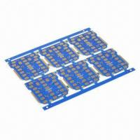 Wholesale Double-sided PCB, Used for Electronic Products, 1.2mm Thickness, Blue Solder Mask from china suppliers