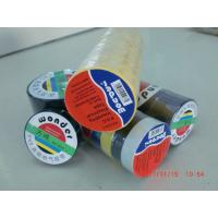 Quality Glossy Rubber Based Adhesive PVC Electrical Tape Black / Red / Green Shiny Film for sale