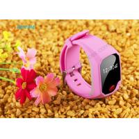 Wholesale Anti Lost GPS Wrist Watch For Kids , Child Tracking Device Watch Silicone Material from china suppliers