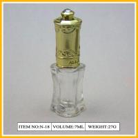 Wholesale Flower Shape Nail Polish Containers , 12ml Glass Bottle With Gold Cap from china suppliers