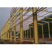 Wholesale Safety Industrial Steel Structures , Multi Layer Pre Engineering Steel Structure Workshop from china suppliers