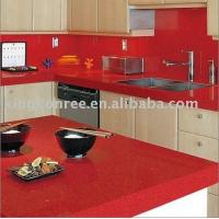 Wholesale Red Man-made Stone Kitchen Island Top,countertop from china suppliers