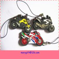 Wholesale fashionable double sided soft PVC motorbike keychain from china suppliers