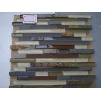 Wholesale Strip Pattern Slate Stone Glass Mosaic Tile For Kitchen Decoration from china suppliers