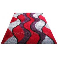Wholesale Red Polyester Shaggy Pile Rug, Modern Malai dori arpet Rugs Mothproof, Anti-static from china suppliers