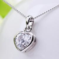 Wholesale Ref No.: 105001 Bright Heart heart shaped pendant necklace garnet jewellery women fashion jewelry from china suppliers