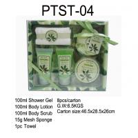 Wholesale OEM / ODM Bubble Bath Gift Set ,Shower Gel, Body Lotion, Body Scrub, Mesh Sponge and Towel from china suppliers