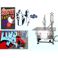 Wholesale Aerosol Canned Chrome Spray Paint Filling Machine / Production Line Semi Automatic from china suppliers