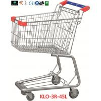 Wholesale Promotional Chrome Plating Grocery Shopping Trolley 45L With Blue Plastic Handle from china suppliers