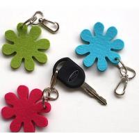 Wholesale high quality custom logo print cheap promotional cute felt keychain from china suppliers