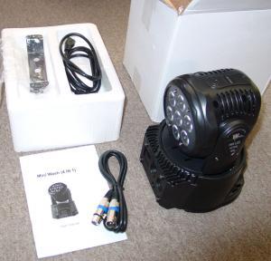 Quality Professional Dj Lighting Equipment , 5*15W RGBWA LED Mini Moving Head Wash Light   X-12 for sale